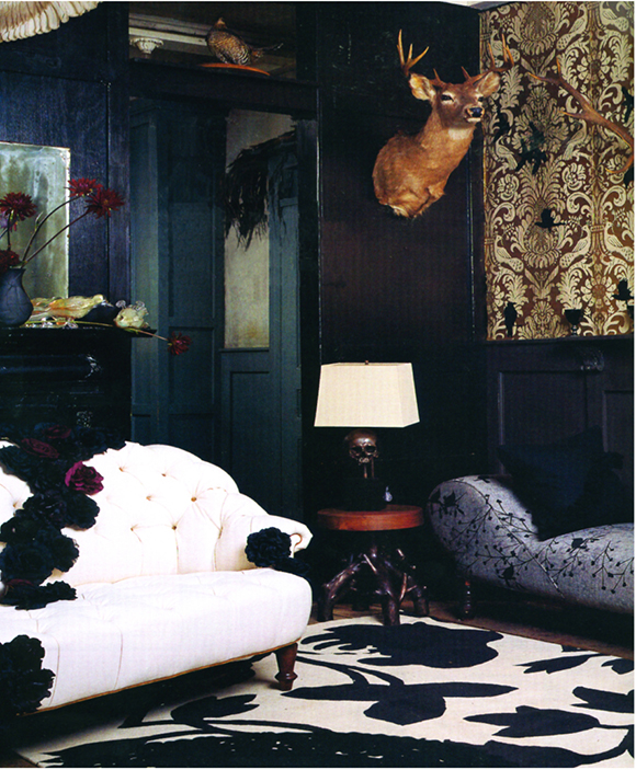 Floral pattern, Madeline Weinrib Rugs on www.CourtneyPrice.com