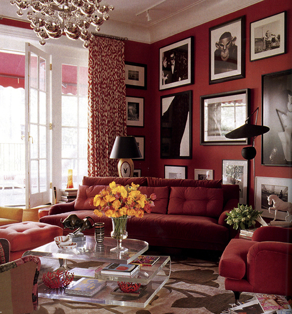 Red Room, Madeline Weinrib rug on www.CourtneyPrice.com