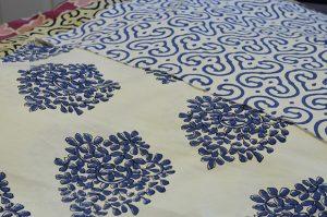 Madeline Winerib, Blue and White Fabrics