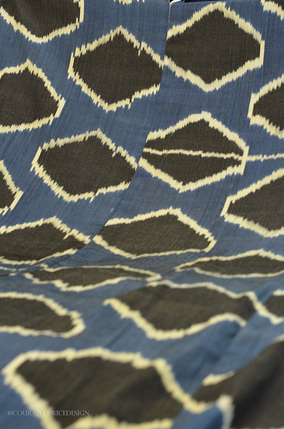 silk ikat, Madeline Weinrib fabric on www.CourtneyPrice.com