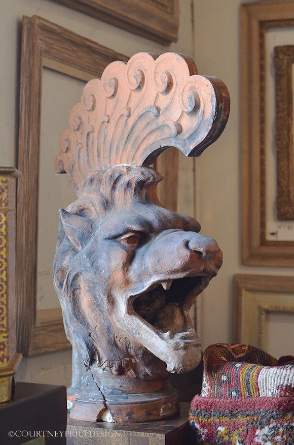 Romanesque Lion on www.CourtneyPrice.com