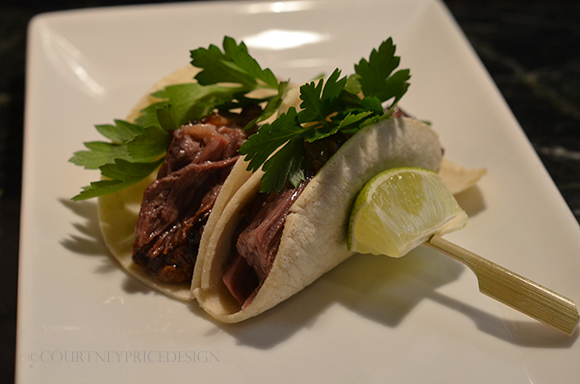 A Pinterest favorite- these short rib tacos, - BEST ever- and EASY! on www.CourtneyPrice.com