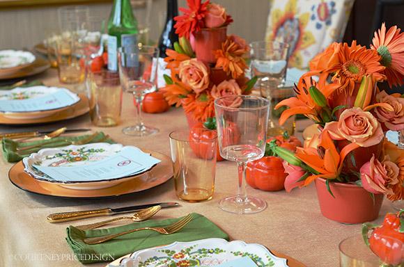 table setting Julie Lloyd on www.CourtneyPrice.com