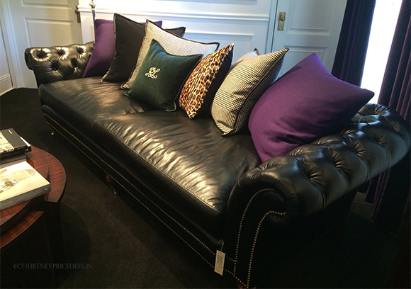 Ralph Lauren's Chesterfield sofa on www.CourtneyPrice.com