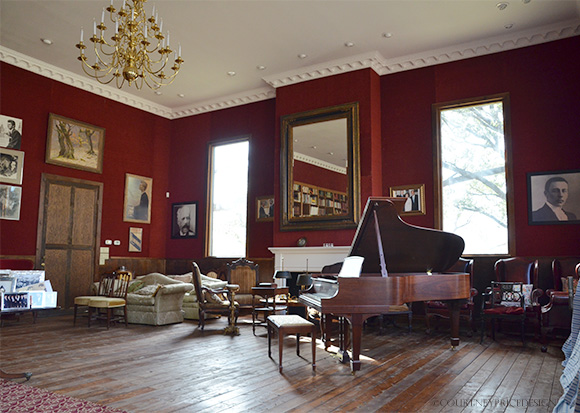 Red Room, Music Room at Van Cliburn House on www.CourtneyPrice.com