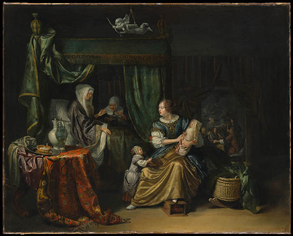 The Newborn Baby painting at the Met on www.CourtneyPrice.com