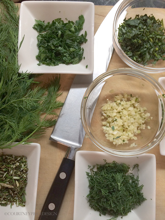 chopped mixed herbs on www.CourtneyPrice.com
