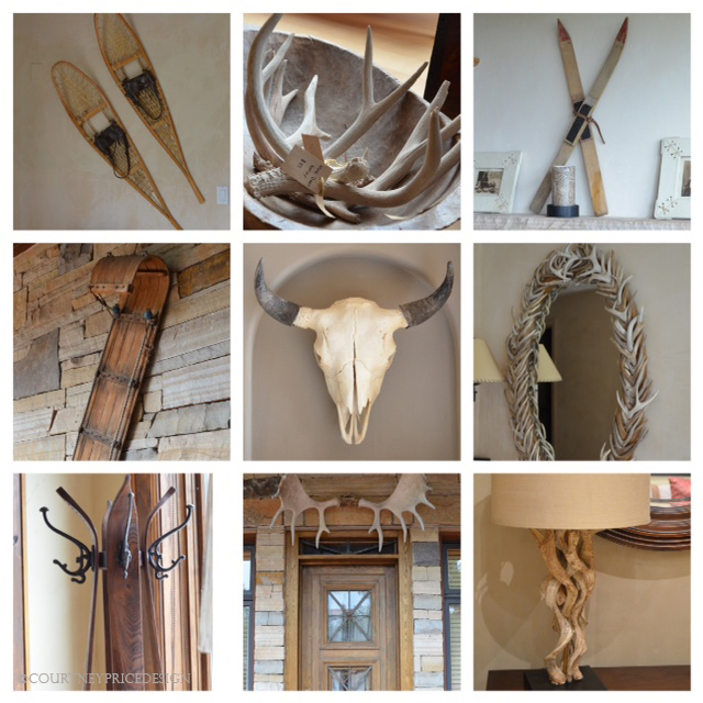 Antlers, Ski House Trend- Mountain Modern on www.CourtneyPrice.com