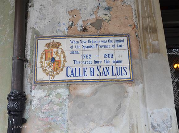 Napoleon House plaque on www.CourtneyPrice.com