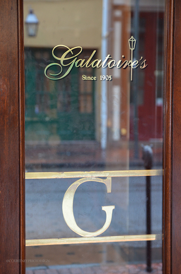 galatoires doors, New Orleans dining, Galatoires in the French Quarter- on www.CourtneyPrice.com