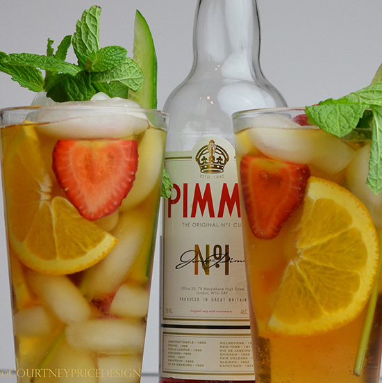 Pimms Cup recipe- let the party BEGIN on www.CourtneyPrice.com