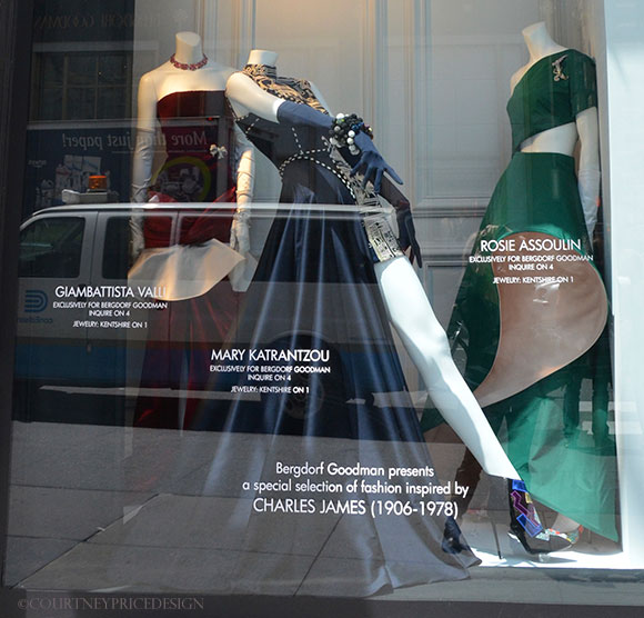 Bergdorf window struts Charles James spirit on www.CourtneyPrice.com