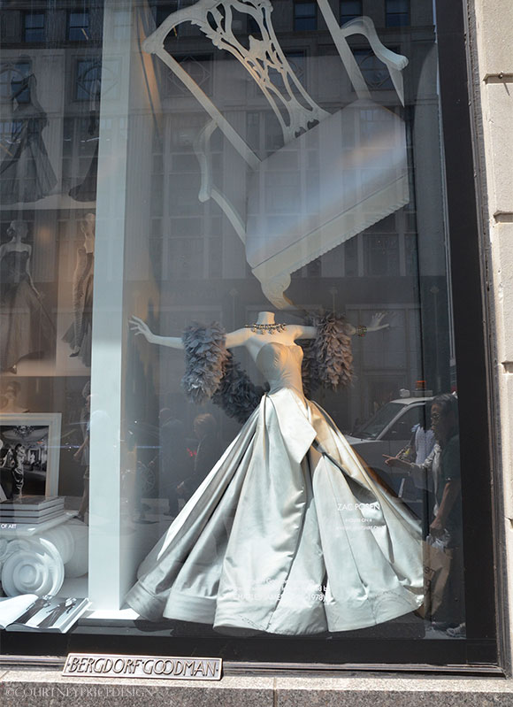 Bergdorf window celebrates Charles James exhibit at The Met on www.CourtneyPrice.com