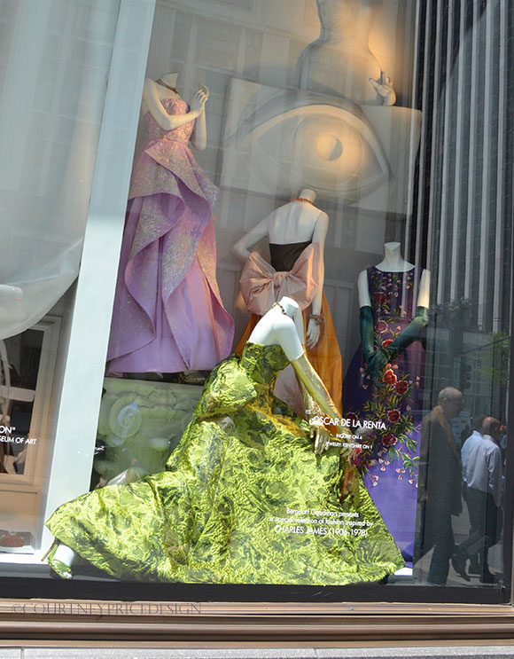 Charles James windows at Bergdorfs on www.CourtneyPrice.com