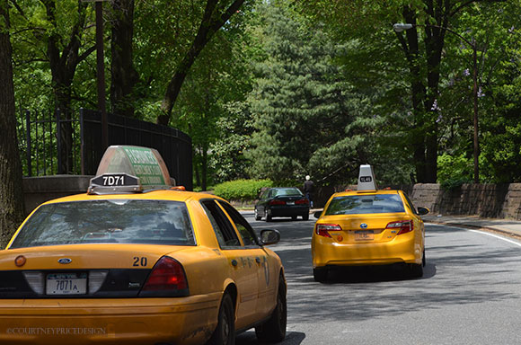 NY Cabs, Cent Park, on www.CourtneyPrice.com