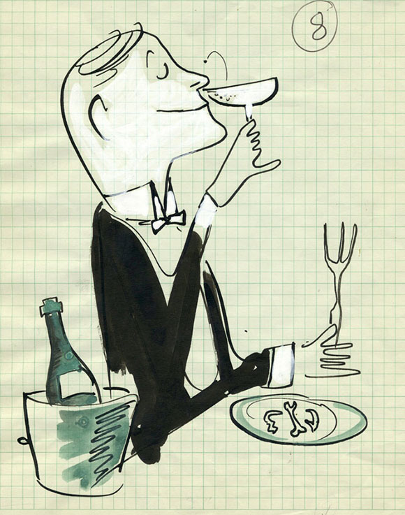 Bremelmans Drawings- Champagne on www.CourtneyPrice.com