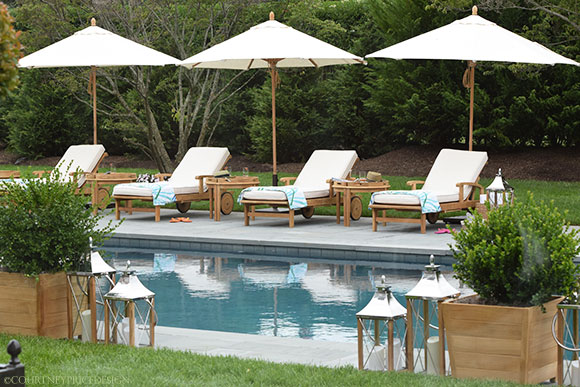 India Hicks, Pool Chairs, Hampton Showhouse on www.CourtneyPrice.com