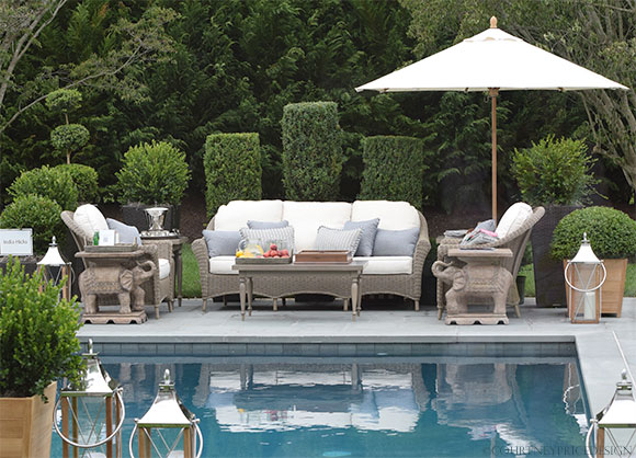 India Hicks, outdoor furniture, Frontgate, Hampton Showhouse on www.CourtneyPrice.com