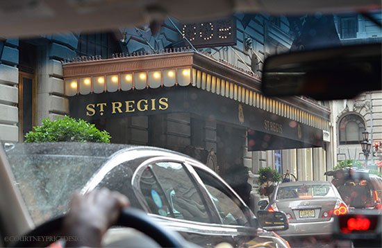 Cabbing to the St Regis Hotel NYC on www.CourtneyPrice.com