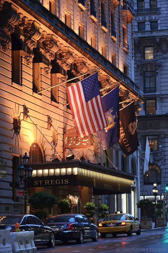 St Regis Hotel NYC on www.CourtneyPrice.com