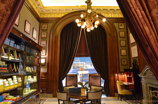 Thornwillow Library at St Regis Hotel NYC on www.CourtneyPrice.com