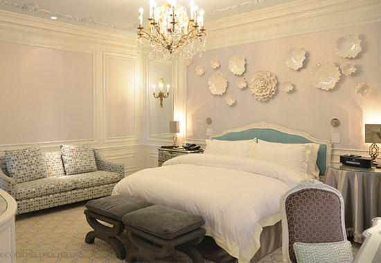The Tiffany Suite, St Regis Hotel NYC on www.CourtneyPrice.com