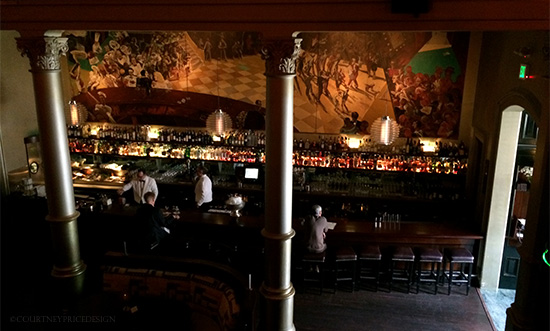 Bar at Bix in San Francisco on www.CourtneyPrice.com