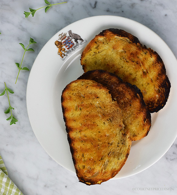 Burrata On Toast, inspired by visit to famous L.A. restaurant. Recipe on www.CourtneyPrice.com