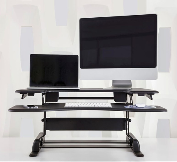 The choice of many #Fortune500 offices- Varidesk Converts existing desk to Standing Desk - comes in 2 different sizes - one monitor or 2- on www.CourtneyPrice.come