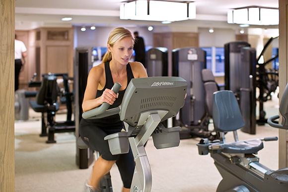Best NYC Hotel Fitness Center: The London Hotel NYC, on www.CourtneyPrice.com
