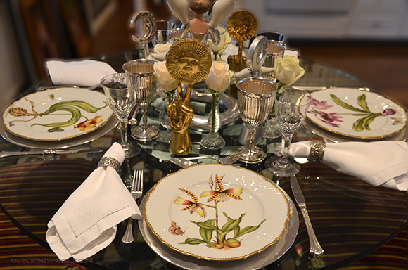 Artful Dinner, Pedro Friedeberg collection, on www.CourtneyPrice.com