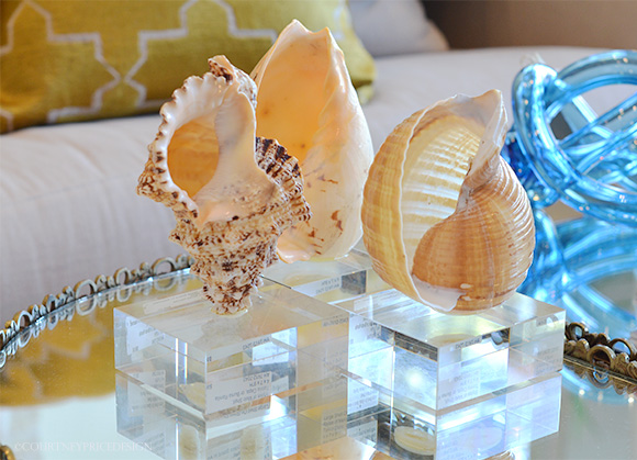 Decorating With Shells on www.CourtneyPrice.com