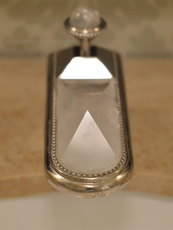 Rock Crystal, Faucet Detail, Luxury Baths on www.CourtneyPrice.com