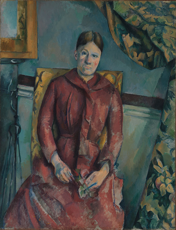 Cezanne_Madame-Cezanne-in-a-Red-Dress at the Metropolitan Museum of Art on www.CourtneyPrice.com