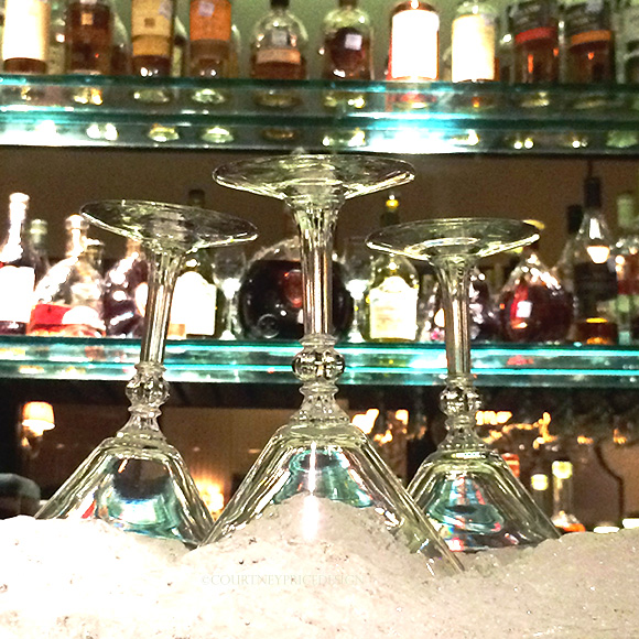 Chilled Martini Glasses on www.CourtneyPrice.com