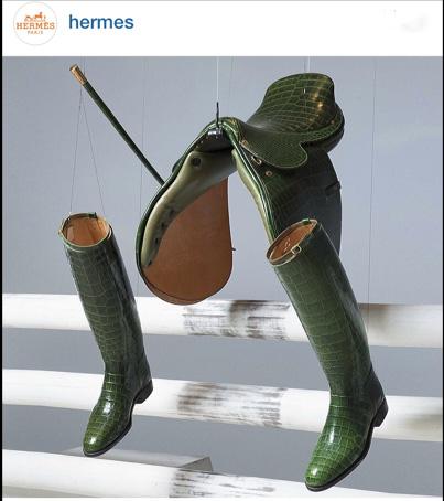 Hermes Saddle Hermes Boots on www.CourtneyPrice.com