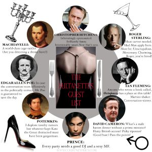 The Sultanette's fantasy dinner: who made the cut? on www.CourtneyPrice.com