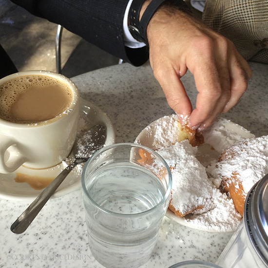 Cafe Du Monde's  Beignets & Coffee - and expansion rumors on www.CourtneyPrice.com