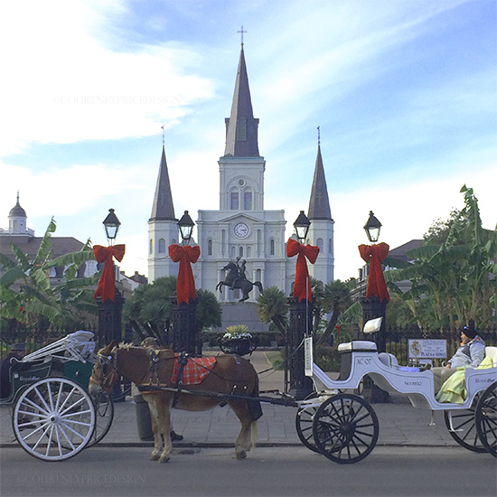 New Orleans, Jackson Square at Christmas time, on www.CourtneyPrice.com