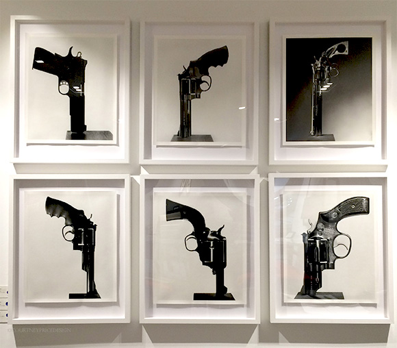 Gun Prints,Holly Hunt Dallas Showroom on www.CourtneyPrice.com