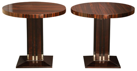 Pair Round Art Deco Side Tables From TheHighboy.com, On Www.CourtneyPrice.