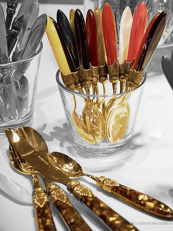 Colorful Flatware,Dining Trends on www.CourtneyPrice.com