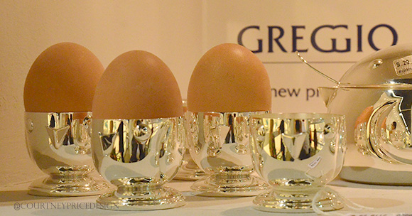 Greggio Silver, egg holder, Dining Trends on www.CourtneyPrice.com