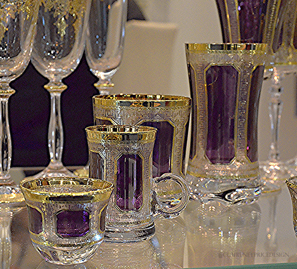 Purple and Gold Crystal, Dining Trends on www.CourtneyPrice.com