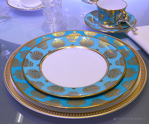 Royal Crown Derby -Blue & Gold, Dining Trends on www.CourtneyPrice.com