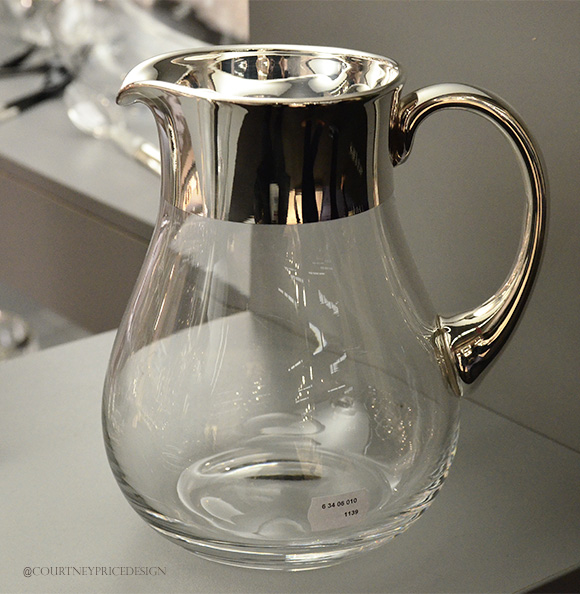 Silver Topped Pitcher,Dining Trends on www.CourtneyPrice.com