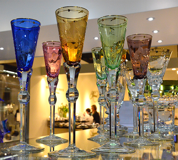 Tall Crystal Champagne Flutes,Dining Trends on www.CourtneyPrice.com