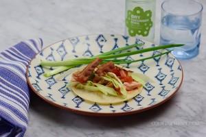 Costco Smoked Salmon Club Tacos- heavenly, quick, easy! on www.CourtneyPrice.com
