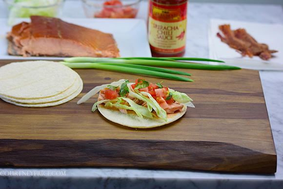 Quick + Easy Smoked Salmon Tacos- Best Fish Taco on the planet: on www.CourtneyPrice.com http://wp.me/p2e5e8-4xV