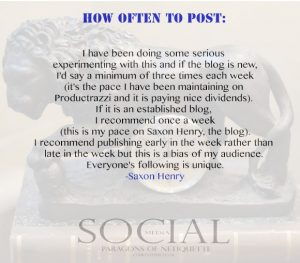 How often to post, from Social Media: Paragons of Netiquette on www.CourtneyPrice.com http://wp.me/p2e5e8-4Ai